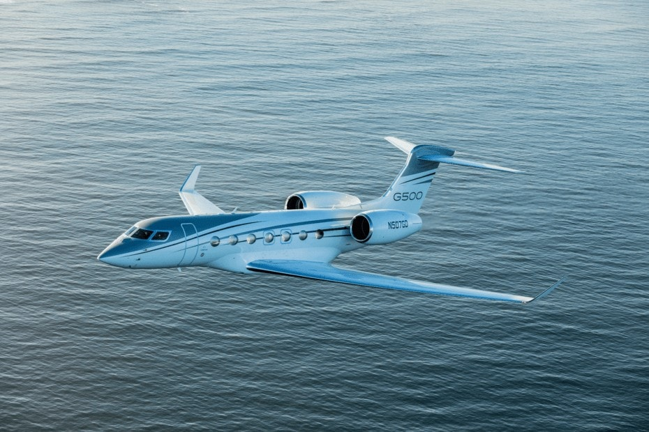 Gulfstream G500 exterior in flight